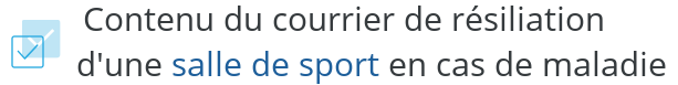 courrier resiliation sport maladie