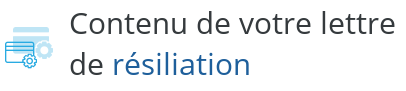 lettre resiliation internet modification contrat