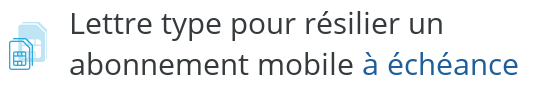 lettre type resiliation mobile engagement