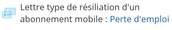 lettre type resiliation mobile perte emploi