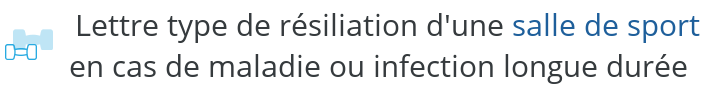 lettre type resiliation sport maladie infection