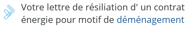 modele lettre resiliation energie