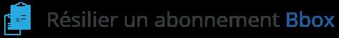 resiliation abonnement bbox