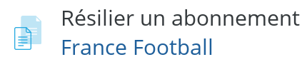 resilier abonnement france football