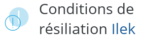 condition resiliation ilek