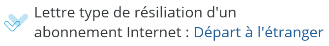 lettre resiliation internet depart etranger