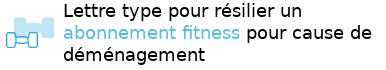 résilier club fitness déménagement