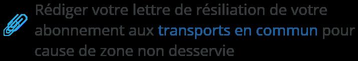modele lettre resiliation abonnement transport zone non desservie