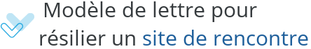 modele lettre resiliation site rencontre