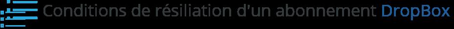 resiliation abonnement dropbox